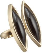 Maiyet Double Floating Black Horn Ring - Lyst