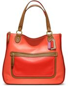Coach Poppy Leather Colorblock Hallie Tote - Lyst