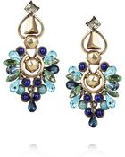 Etro Crystal and Stone Clip Earrings - Lyst