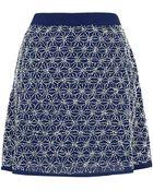 Topshop Premium Embellished Skirt - Lyst