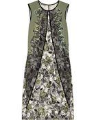 Bottega Veneta Embellished Stretch-Silk Dress - Lyst