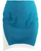 Antonio Berardi Perforated Panel Skirt - Lyst