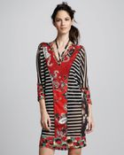Jean Paul Gaultier Mixedprint Tulle Coverup Tunic - Lyst