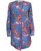 10 Crosby Derek Lam Floral Print Tunic Dress - Lyst