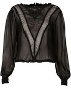 Topshop Victorian Style Panel Blouse - Lyst