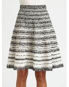Oscar de la Renta Silk Crochet Skirt - Lyst