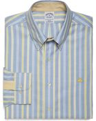 Brooks Brothers Non Iron Slim Fit Alternating Framed Triple Stripe Sport Shirt - Lyst