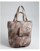 Kooba Light Brown Leopard Print Nylon 'Audra' Reversible Tote - Lyst