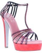 Sergio Rossi Crystal Embellished Sandal - Lyst