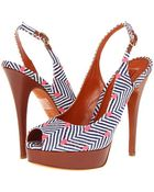 Missoni Dotted Herringbone Sling Back Peep Toe - Lyst