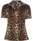 Dolce & Gabbana Leopard Print Shirt - Lyst