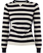 Karen Millen Sporty Stripe Knit Sweater - Lyst