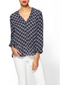 Joie Lerona Plaid Silk Top - Lyst