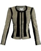 Helmut Lang Reptile Effect Leather Jacket - Lyst