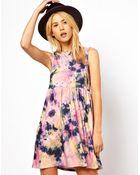 Asos Smock Dress in Tie Dye Print - Lyst