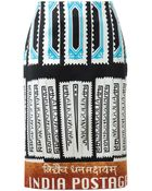 Mary Katrantzou Indian Postage Stamp Printed Silk Pencil Skirt - Lyst