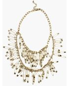 Nasty Gal Safety Pin Necklace - Lyst