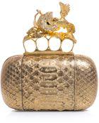 Alexander McQueen Hummingbird Clasp Boxclutch Bag - Lyst