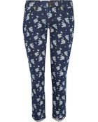 J.Crew Toothpick Printed Mid-Rise Skinny Jeans - Lyst