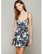 Free People Printed Bed Of Blossoms Slip - Lyst
