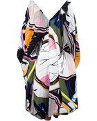 Balenciaga Print Mini Dress - Lyst