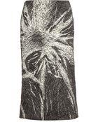 Miu Miu Crinkled Print Skirt - Lyst