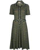 Ken Scott Vintage Striped Dress - Lyst