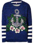 Juicy Couture Regal Bluemulti Nautical Hibiscus Pullover - Lyst