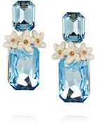 Roberto Cavalli Swarovski Crystal Clip Earrings - Lyst