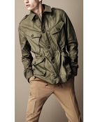 Burberry Brit Heritage Military Field Jacket - Lyst