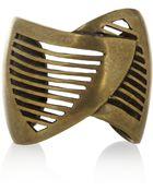 DANNIJO Minetta Oxidized Brass Cuff - Lyst