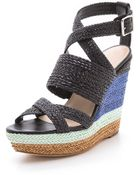 Loeffler Randall Lake Strappy Wedge Sandals - Lyst