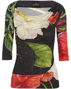Vivienne Westwood Anglomania Dahlia Printed Jersey Top - Lyst