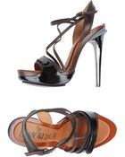 Lanvin Platform Sandals - Lyst