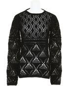 Proenza Schouler Crocher Knit Cotton Sweater - Lyst