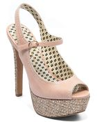 Jessica Simpson Eddy Leather Platform Pumps - Lyst