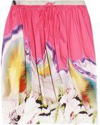 Vera Wang Printed Twisted Stretchcotton Skirt - Lyst