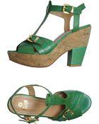 Enrico Fantini Platform Sandals - Lyst