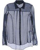 Theyskens' Theory Long Sleeve Shirts - Lyst