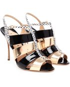 Nicholas Kirkwood Python and Patent Leather Sandals - Lyst