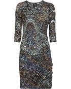 McQ by Alexander McQueen Feather Silk-Jersey Dress - Lyst