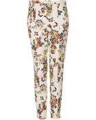 Topshop Pixelated Highwaist Trousers - Lyst
