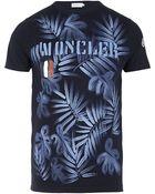 Moncler Hand Painted Hawaiian Tshirt - Lyst