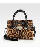 Jimmy Choo Rosalie Leopardprint Calf Hair Satchel - Lyst