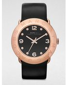 Marc By Marc Jacobs Rose Goldtone Stainless Steel Watch/Black - Lyst