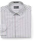 Kenneth Cole Textured Striped Dress Shirt - Lyst