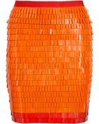 Hervé Léger Tricia Embellished Bandage Skirt - Lyst