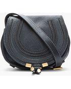 Chloé Small Black Marcie Shoulder Bag - Lyst