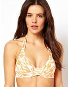 ASOS Collection Asos Mix and Match D Plunge Halter Fuller Bust Bikini Top - Lyst