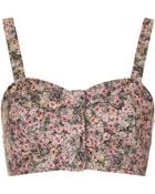 Topshop Ditsy Floral Button Bralet - Lyst